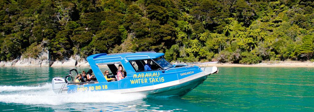 Scenic boat trip along the coast of the Abel Tasman - Marahau Water Taxis
